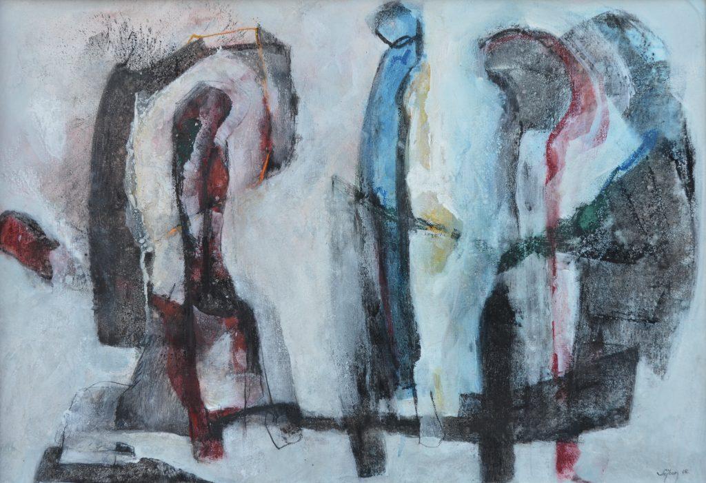 Együtt -Together, akril, vegyes t., 70x100 cm acrylic, mix. t.,
