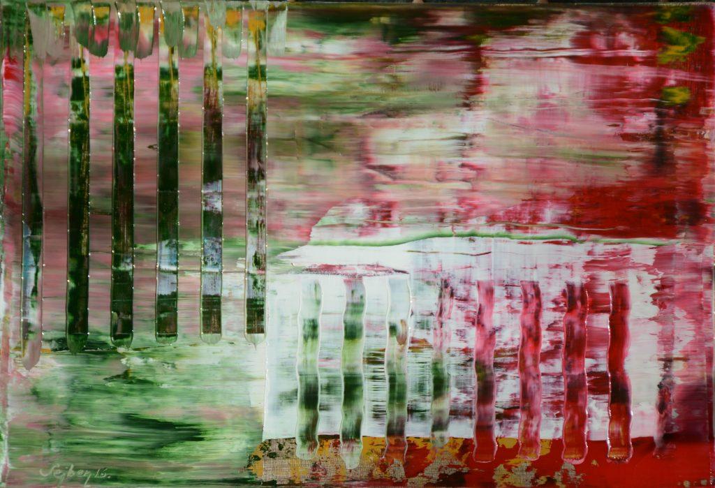 Függőleges-Werical I. olah, farost, 22x32 cm, oil, woodfibre,