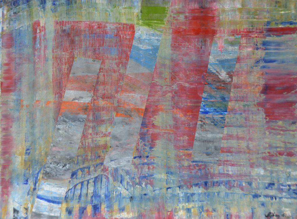 Ritmus-Rhytmes, olaj, vászon,58x43cm oil, canvas,